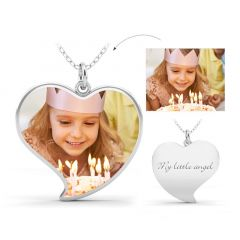 """Best Love"" Personalized Photo Necklace"