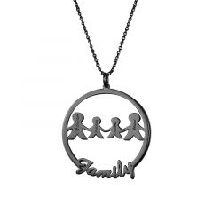"""We Are Family"" Personalized Family Necklace"