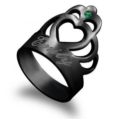 """""""Hold My Hand"""" Personalized Engraving Ring"""