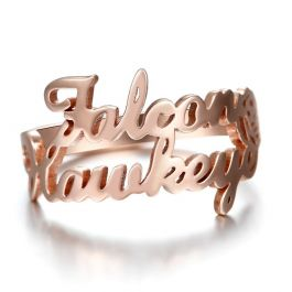 """""""We Two Together"""" Personalized Name Ring"""