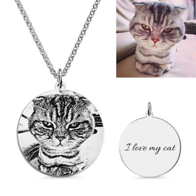 """My Pet, My Family"" Personalized Photo Necklace for Animal Lovers"