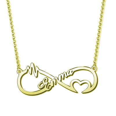 """""""You Are The Reason"""" Personalized Infinity Necklace"""