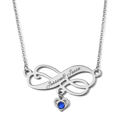 """Full of Love"" Personalized Infinity Necklace"