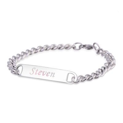 Personalized Bracelet for Men Stainless Steel