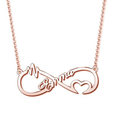 """You Are The Reason"" Personalized Infinity Necklace"