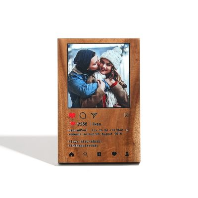 Ins Love Custom Photo Engraved  Wooden Frame
