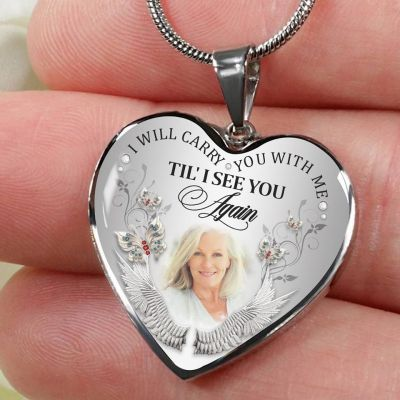 I Will Carry You with Me Silver Necklace