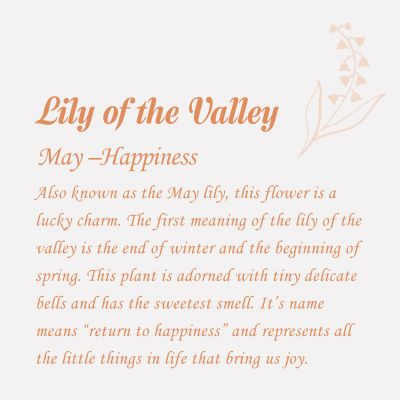 Lily of the Valley-May Birth Flower Disc Necklace