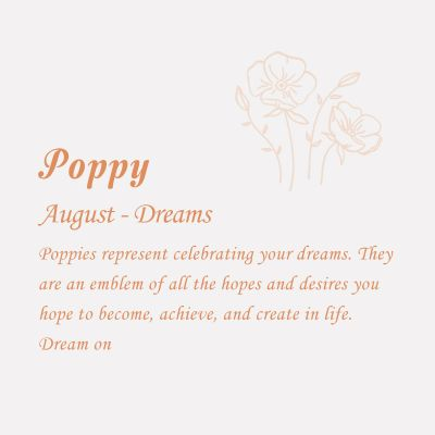 Poppy-August Birth Flower Disc Necklace