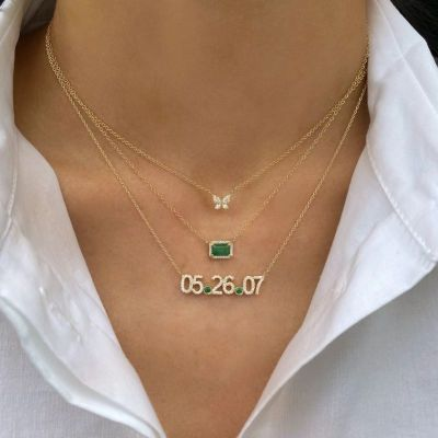 Personalized Birthstone Surrounded Necklace