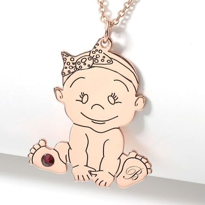 Personalized Baby Queen Necklace