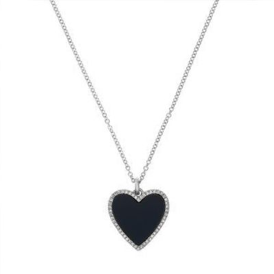 Adjustable Diamond Heart Necklace