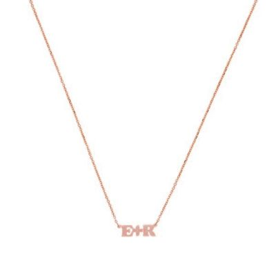 Letter Plus Sign Necklace