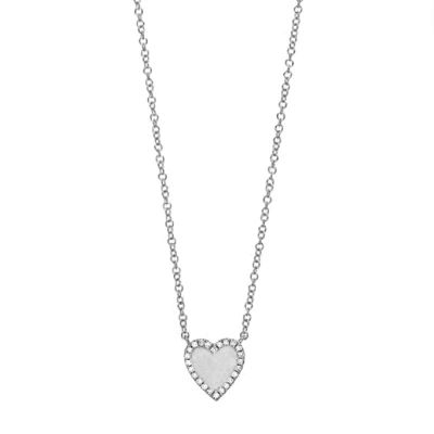 Adjustable Diamond Small Heart Necklace