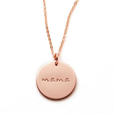 Mama Disc Necklace