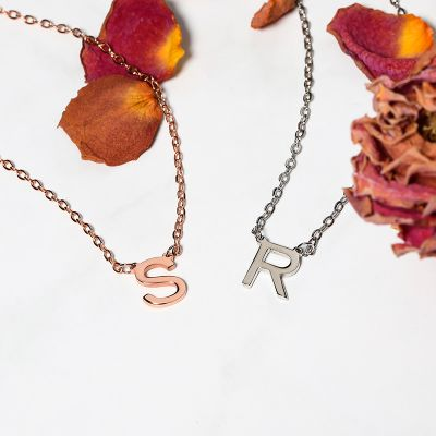 Single Initial Necklace With Your Choice of Letter