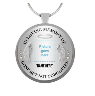 Personalized Photo Memorial Necklace