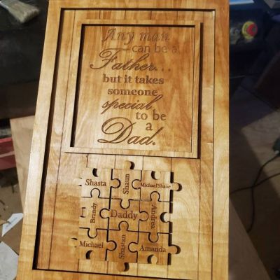 Wood Personalized Father's Day Plaque
