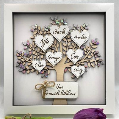 Personalized Custom Family Tree with 1-12 Names