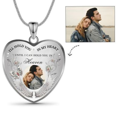I'll Hold You In My Heart Custom Photo Memorial Necklace