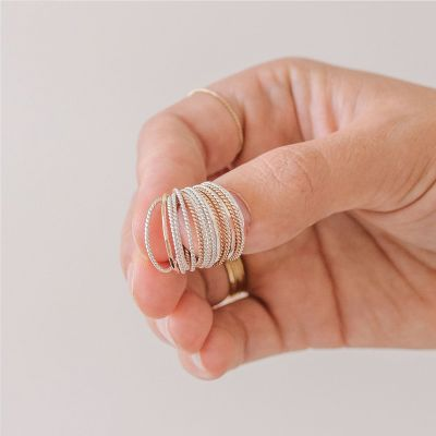Rose Gold Simple Braided Stacking Ring