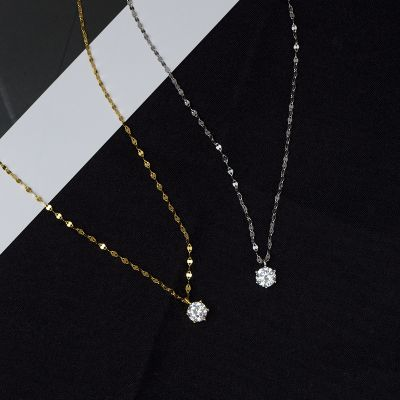 Simple Sterling Silver Clavicle Chain Yellow Gold