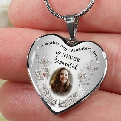 Personalized Photo Necklace A Mother & Daughter's Love Is Never Separated
